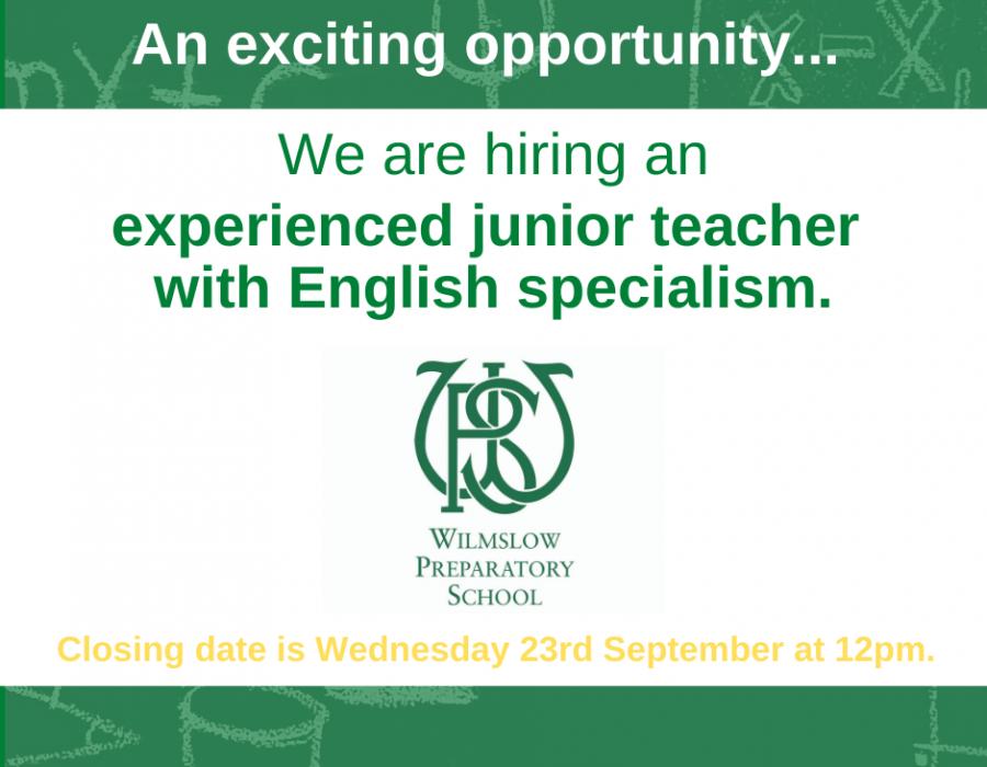 WPS hiring a junior teacher